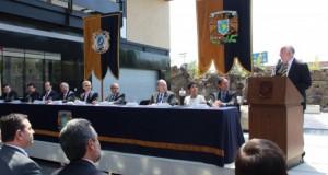 Inauguración de la sede la carrera en Ciencia Forense, octubre de 2014,