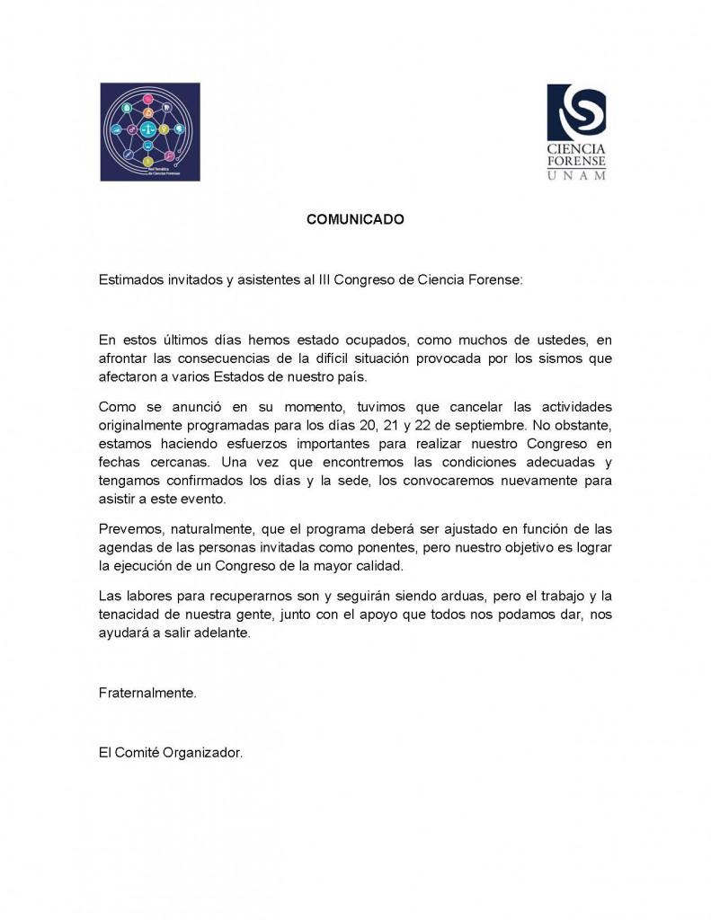 Comunicado Congreso-Reinicio de actividades