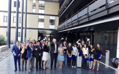 Durante la protesta de los alumnos de la Licenciatura en Ciencia Forense UNAM 2019 y la entrega de la medalla Gabino Barreda.