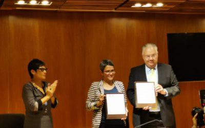 Firma del Convenio de Colaboración entre la Licenciatura en Ciencia Forense y la Comisión Nacional de Búsqueda de Personas, para colaboración académica.