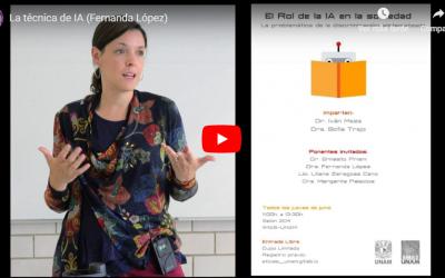 Conferencia: La técnica de IA, por la Dra. Fernanda López Escobedo