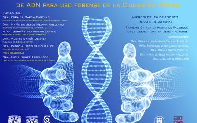 Invitación al: Conversatorio sobre la ley por la que se crea el Banco de ADN para uso forense de la Ciudad de México.
