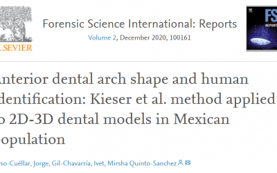 "Artículo de la LCF: ""Anterior dental arch shape and human identification: Kieser et al. method applied to 2D-3D dental models in Mexican population"""