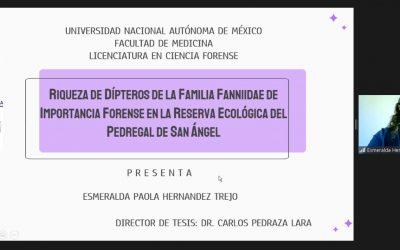 ¡Felicidades Esmeralda Paola Hernández Trejo! Por obtener el grado de Licenciada en Ciencia Forense