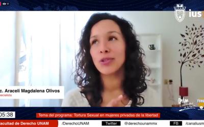 """Mundo Forense, invitada Mtra. Araceli Olivos Portugal, tema: """"Tortura sexual en mujeres privadas de la libertad"""""""