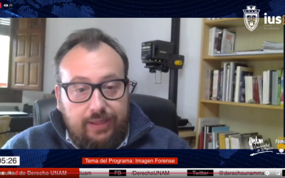 "Mundo Forense, invitado: Mtro. Alejandro Maestre Gasteazi, tema: ""Imagen forense""."