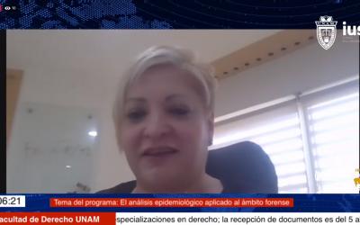 "Mundo Forense, invitada: Dra. Lourdes Motta Murguía, tema: ""El análisis epidemiológico aplicado al ámbito forense"""