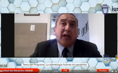 "Mundo Forense, invitado: Dr. Antonio Cholley Nakahodo Rivera, tema:""La odontología forense en pandemia"""