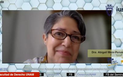 Mundo Forense. Invitada: Dra. Abigail Meza Peñaloza. Tema: Aplicaciones de la osteología antropológica en contextos forenses