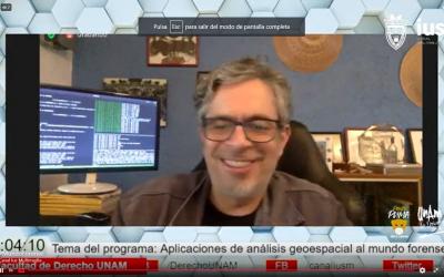 """Mundo Forense, Invitado: Dr. Pablo López Ramírez,tema: """"Aplicaciones de análisis geoespacial al mundo forense"""""""