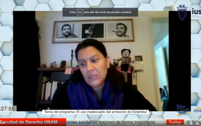 """Mundo  Forense; invitada: Mtra. Valeria Patricia Moscoso Urzúa, tema: """"El uso inadecuado del protocolo de Estambul"""""""